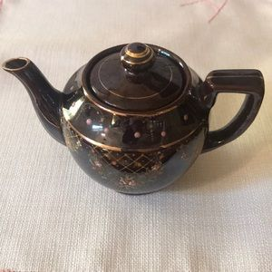 Redware Brown Betty Teapot Occupied Japan